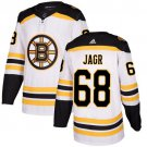 Men's Boston Bruins #68 Jaromir Jagr White Stitched Jersey