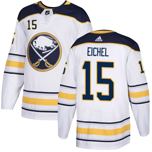 Men's Buffalo Sabres #15 Jack Eichel White Stitched Jersey