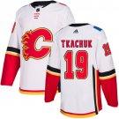 Men's Calgary Flames #19 Matthew Tkachuk White Stitched Jersey