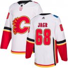 Men's Calgary Flames #68 Jaromir Jagr White Stitched Jersey