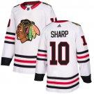 Men's Chicago Blackhawks #10 Patrick Sharp White Stitched Jersey