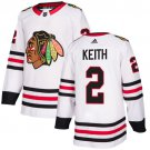 Men's Chicago Blackhawks #2 Duncan Keith White Stitched Jersey