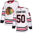Men's Chicago Blackhawks #50 Corey Crawford White Stitched Jersey