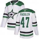 Men's Dallas Stars #47 Alexander Radulov White Stitched Jersey
