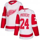Men's Detroit Red Wings #24 Bob Probert White Stitched Jersey