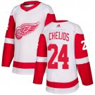 Men's Detroit Red Wings #24 Chris Chelios White Stitched Jersey