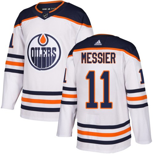 Men's Edmonton Oilers #11 Mark Messier White Stitched Jersey