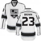 Men's Los Angeles Kings #23 Dustin Brown White Stitched Jersey