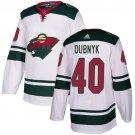 Men's Minnesota Wild #40 Devan Dubnyk White Stitched Jersey