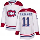 Men's Montreal Canadiens #11 Brendan Gallagher White Stitched Jersey