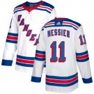 Men's New York Rangers #11 Mark Messier White Stitched Jersey
