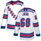 Men's New York Rangers #68 Jaromir Jagr White Stitched Jersey