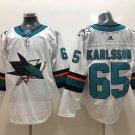 Men's San Jose Sharks #65 Erik Karlsson White Stitched Jersey