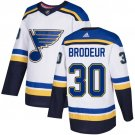 Men's St. Louis Blues #30 Martin Brodeur White Stitched Jersey