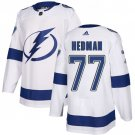 Men's Tampa Bay Lightning #77 Victor Hedman White Stitched Jersey