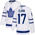 Men's Toronto Maple Leafs #17 Wendel Clark White Stitched Jersey