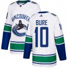 Men's Vancouver Canucks #10 Pavel Bure White Stitched Jersey