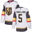 Men's Vegas Golden Knights #5 Deryk Engelland White Stitched Jersey