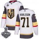 Men's Vegas Golden Knights #71 William Karlsson White 2018 Final Jersey