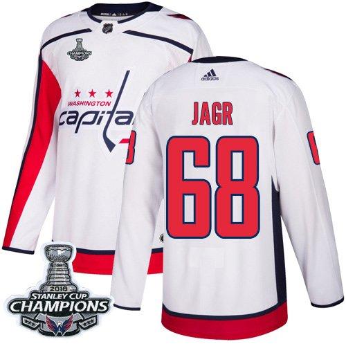 Men's Washington Capitals #68 Jaromir Jagr White Champions Jersey