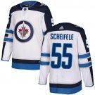 Men's Winnipeg Jets #55 Mark Scheifele White Stitched Jersey