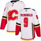 Men's Calgary Flames #9 Lanny McDonald White Stitched Jersey