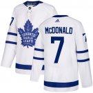 Men's Toronto Maple Leafs #7 Lanny McDonald White Stitched Jersey