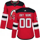 Customized New Jersey Devils Women's Authentic Red Home Jersey