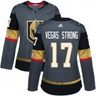 Vegas Strong Women's Vegas Golden Knights Authentic Home Jersey - Gray