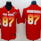 Patriots #87 Rob Gronkowski Red AFC 2019 Pro Bowl Game Men Jersey