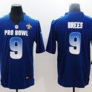 Saints #9 Drew Brees Royal NFC 2019 Pro Bowl Game Men Jersey