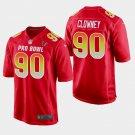Houston Texans #90 Jadeveon Clowney Red AFC 2019 Pro Bowl Game Jersey