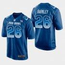 New York Giants #26 Saquon Barkley Blue NFC 2019 Pro Bowl Game Jersey