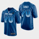 Carolina Panthers #70 Trai Turner Blue NFC 2019 Pro Bowl Game Jersey