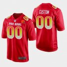 Cleveland Browns #00 Custom Red AFC 2019 Pro Bowl Game Jersey