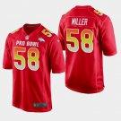 Denver Broncos #58 Von Miller Red AFC 2019 Pro Bowl Game Jersey