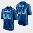 Detroit Lions #00 Custom Blue NFC 2019 Pro Bowl Game Jersey