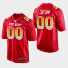 Indianapolis Colts #00 Custom Red AFC 2019 Pro Bowl Game Jersey