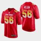 Indianapolis Colts #56 Quenton Nelson Red AFC 2019 Pro Bowl Game Jersey