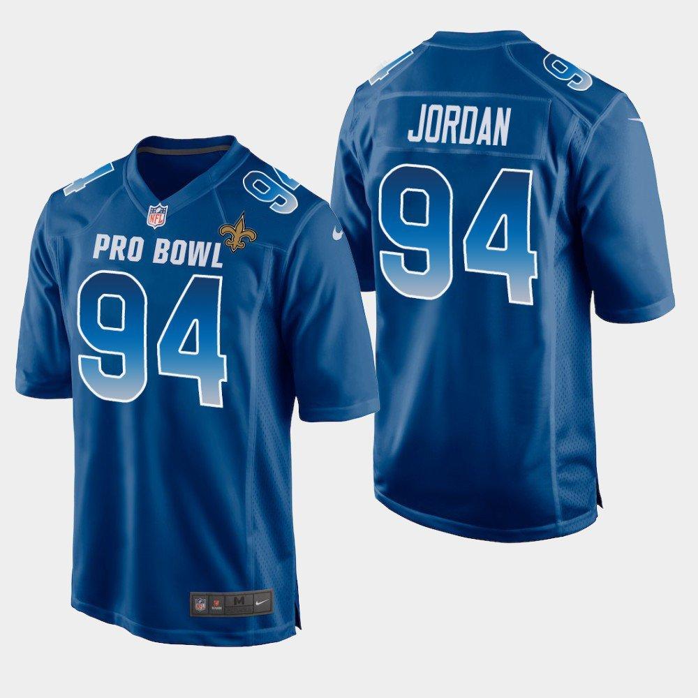 New Orleans Saints #94 Cameron Jordan Blue NFC 2019 Pro Bowl Game Jersey