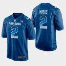 New York Giants #2 Aldrick Rosas Blue NFC 2019 Pro Bowl Game Jersey