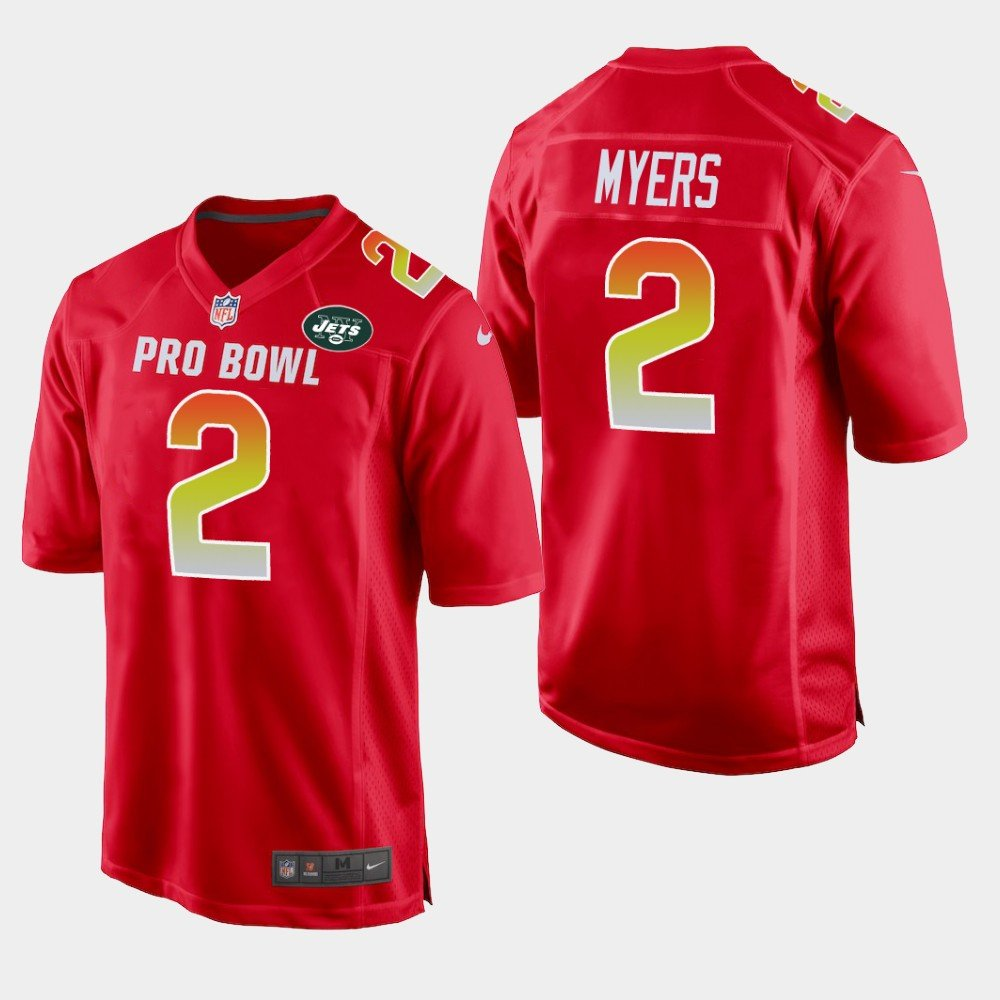 New York Jets #2 Jason Myers Red AFC 2019 Pro Bowl Game Jersey