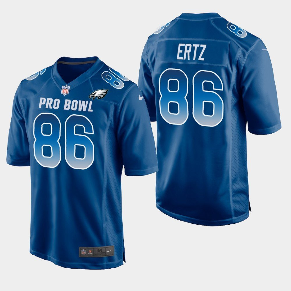 Philadelphia Eagles #86 Zach Ertz Blue NFC 2019 Pro Bowl Game Jersey