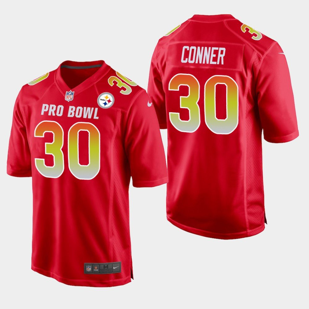 Pittsburgh Steelers #30 James Conner Red AFC 2019 Pro Bowl Game Jersey