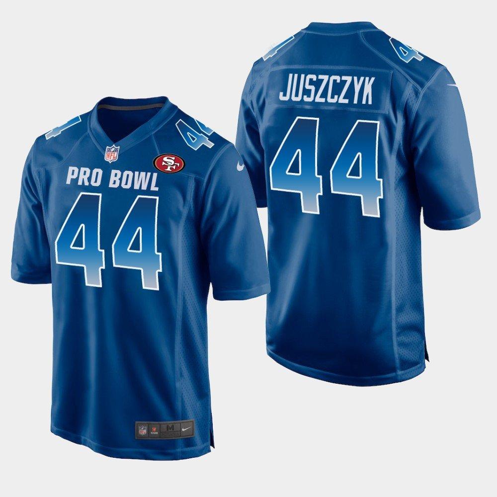 San Francisco 49ers #44 Kyle Juszczyk Blue NFC 2019 Pro Bowl Game Jersey