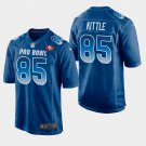 San Francisco 49ers #85 George Kittle Blue NFC 2019 Pro Bowl Game Jersey