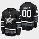 Dallas Stars #00 Custom 2019 All-Star Game Parley Black Stitched Jersey