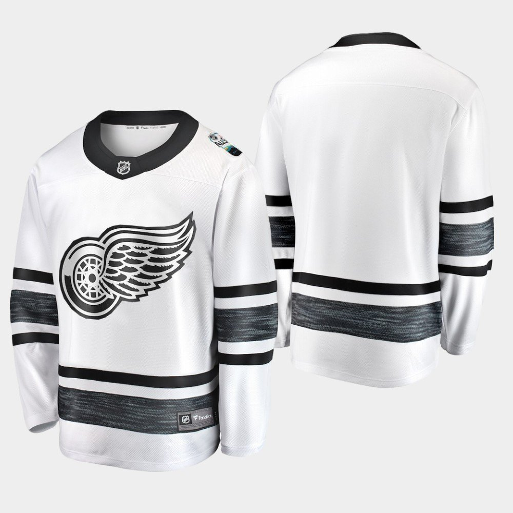 Detroit Red Wings 2019 All-Star Game Parley White Stitched Jersey