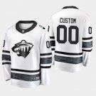 Minnesota Wild #00 Custom 2019 All-Star Game Parley White Stitched Jersey