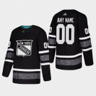 New York Rangers #00 Custom All-Star Game Parley Game Black Stitched Jersey
